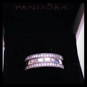NWOT Flipping Hearts of Pandora Ring(with box)